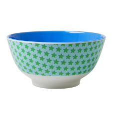 Blue & Green Star print melamine two tone bowl by Rice DK