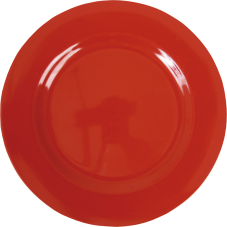 Red Melamine Round Dinner Plate by Rice DK