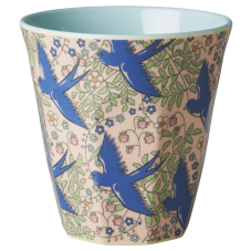 Blue Swallow Print Melamine Cup Rice DK