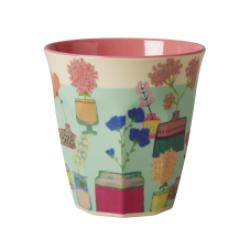 Colourful Flower Display Print Melamine Cup Rice DK