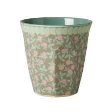 Mini Floral Print With Olive Green Melamine Cup Rice DK
