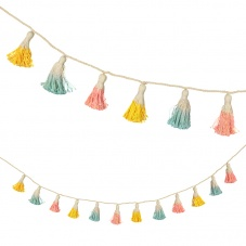 Meri Meri Pastel Coloured Dipped Tassel Garland