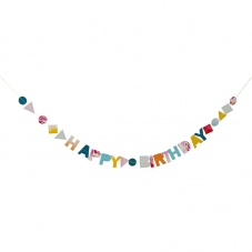 Happy Birthday Garland Birthday Card by Meri Meri