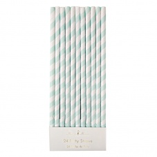 Mint Striped Paper Party Straws By Meri Meri