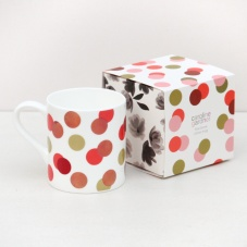 Caroline Gardner Metallic Spot Print Boxed China Mug