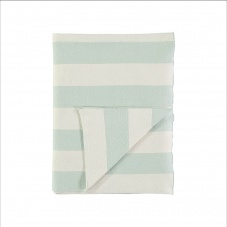 Mint & Ivory Striped Organic Cotton Blanket Meri Meri