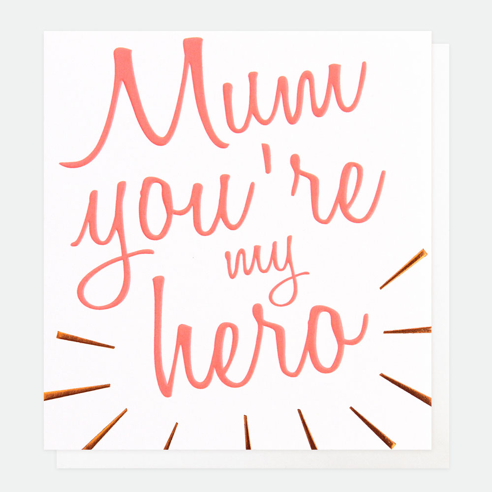 Mum you're my hero Card By Caroline Gardner