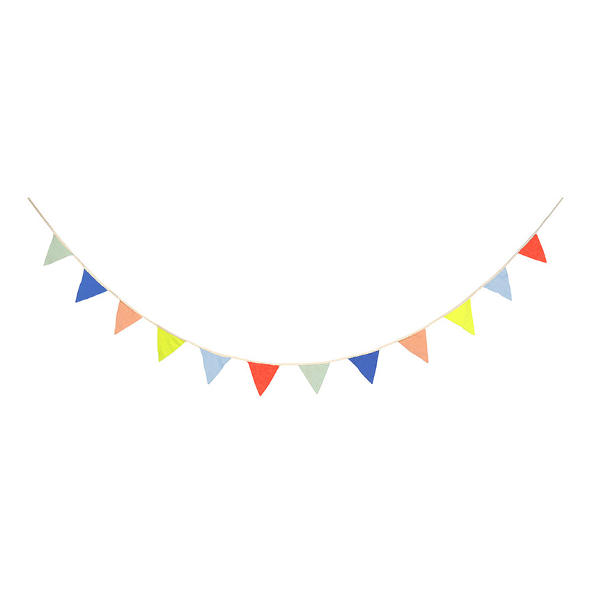 Multi Colour Knitted Flag Bunting By Meri Meri