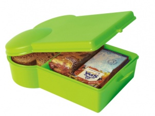 Lime Green sandwich shape lunchbox by Present Time