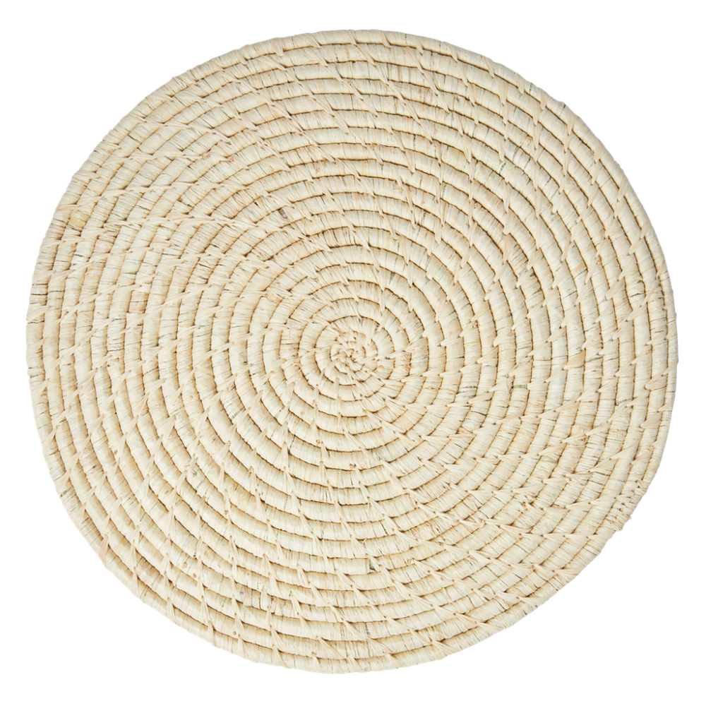 Raffia Large Round Placemat Coaster In Natural By Rice DK