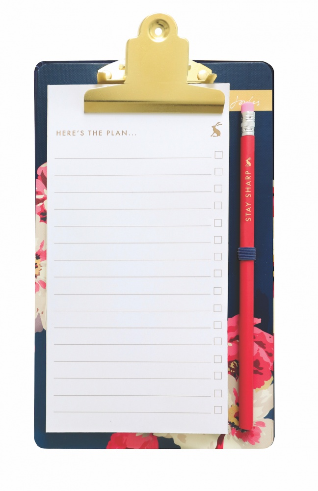 Memo Pad & Clipboard Bircham Floral Print By Joules