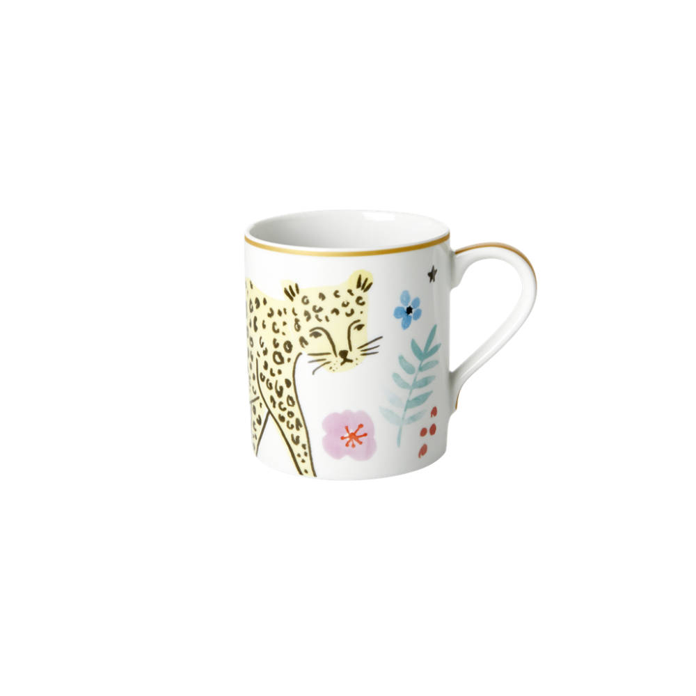 Porcelain Mug With Wild Leopard Print By Rice DK