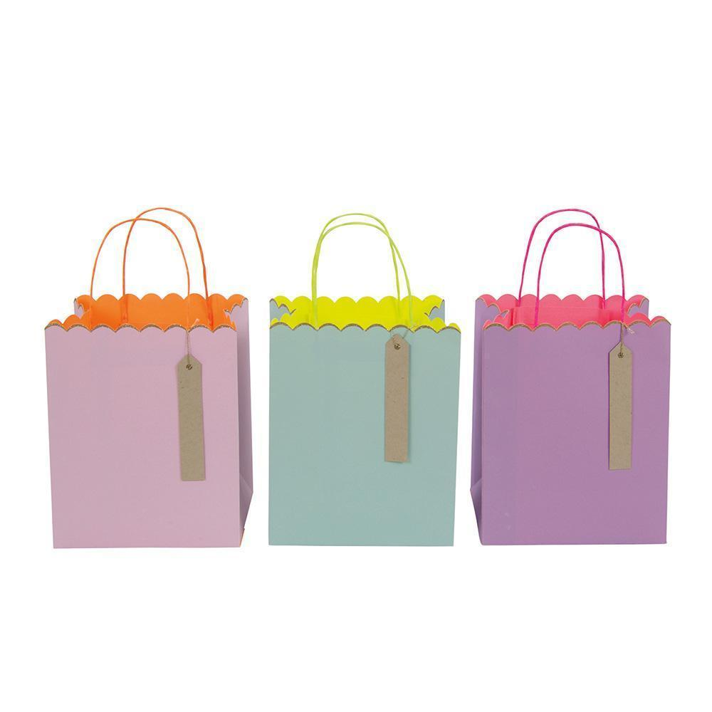 Pastel & Neon Gift Bags Pack of 3 By Meri Meri