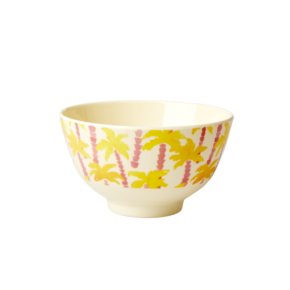 Palm Tree Print Small Melamine Bowl By Rice DK
