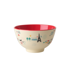 Paris Print Small Melamine Bowl Rice DK