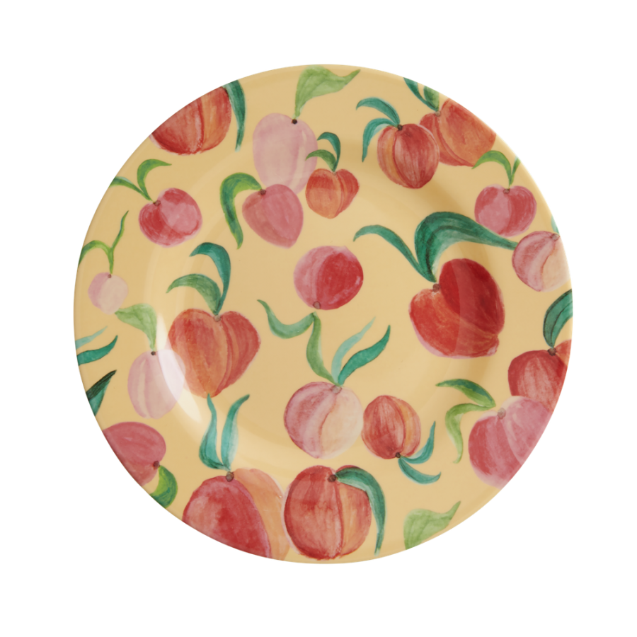 Peach Print Melamine Side Plate or Lunch Plate By Rice DK
