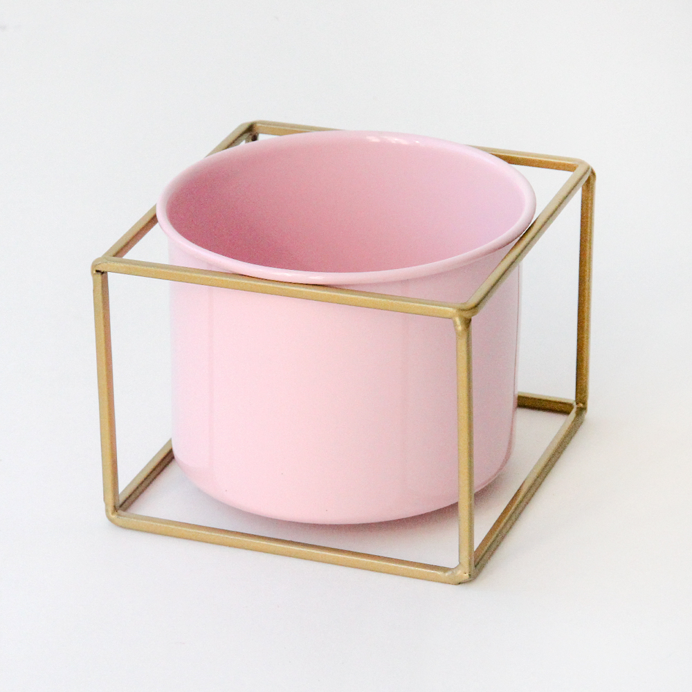 Pink & Gold Plant Pot By Caroline Gardner