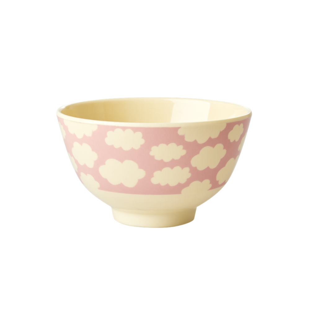 Pink Cloud Print Small Melamine Bowl Rice DK