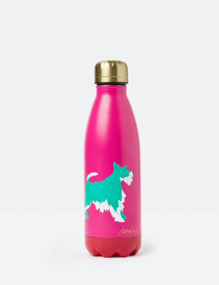 Pink Joules Water Bottle Dog Print