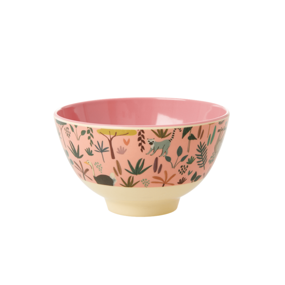 Jungle Pink Print Small Melamine Bowl By Rice DK