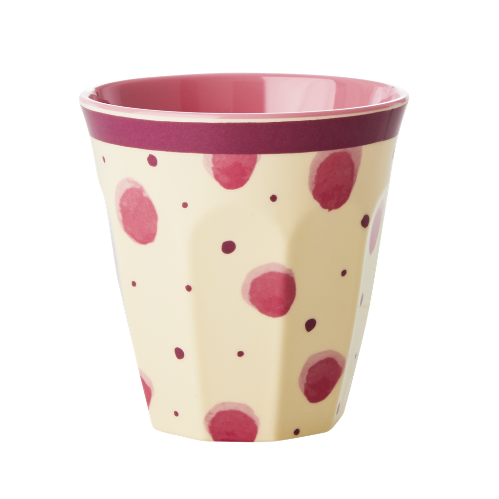 Pink Watercolour Splash Print Melamine Cup Rice DK