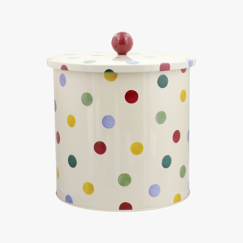 Polka Dot Print Biscuit Barrel By Emma Bridgewater
