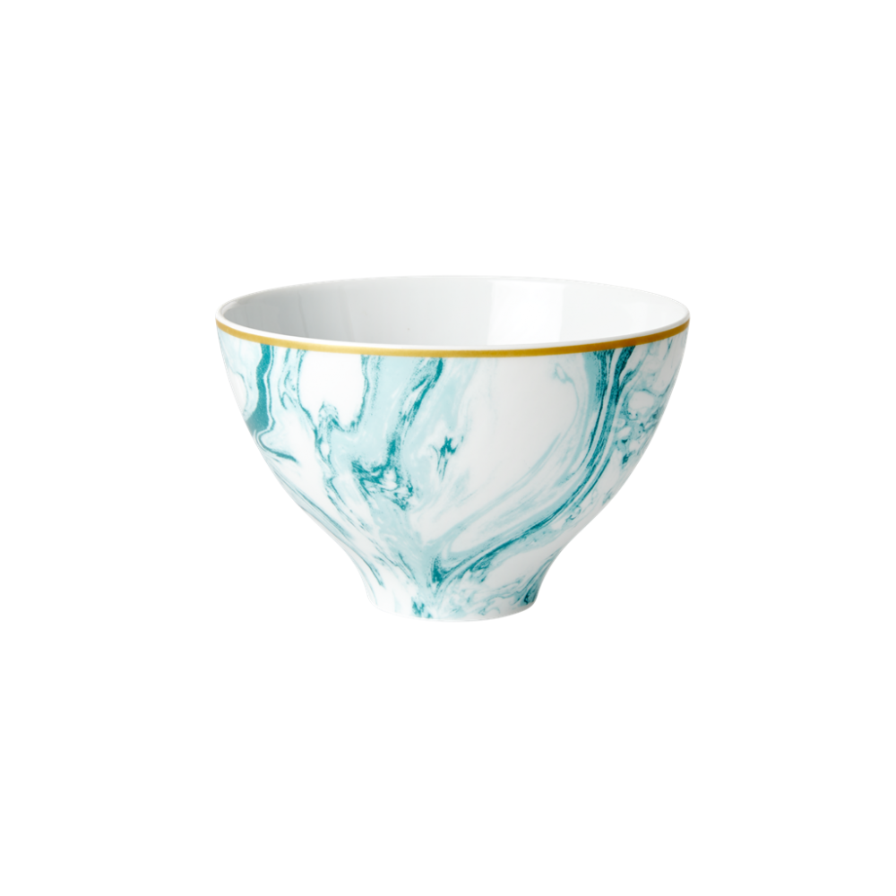 Porcelain Bowl With Marble Print in Jade  By Rice DK
