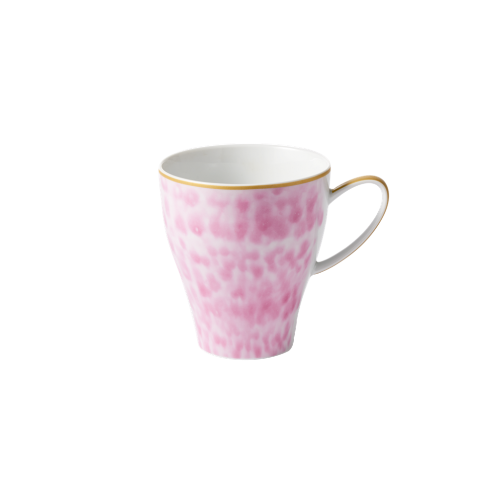 Porcelain Large Shaped Mug Glaze  Print Bubblegum Pink By Rice DK
