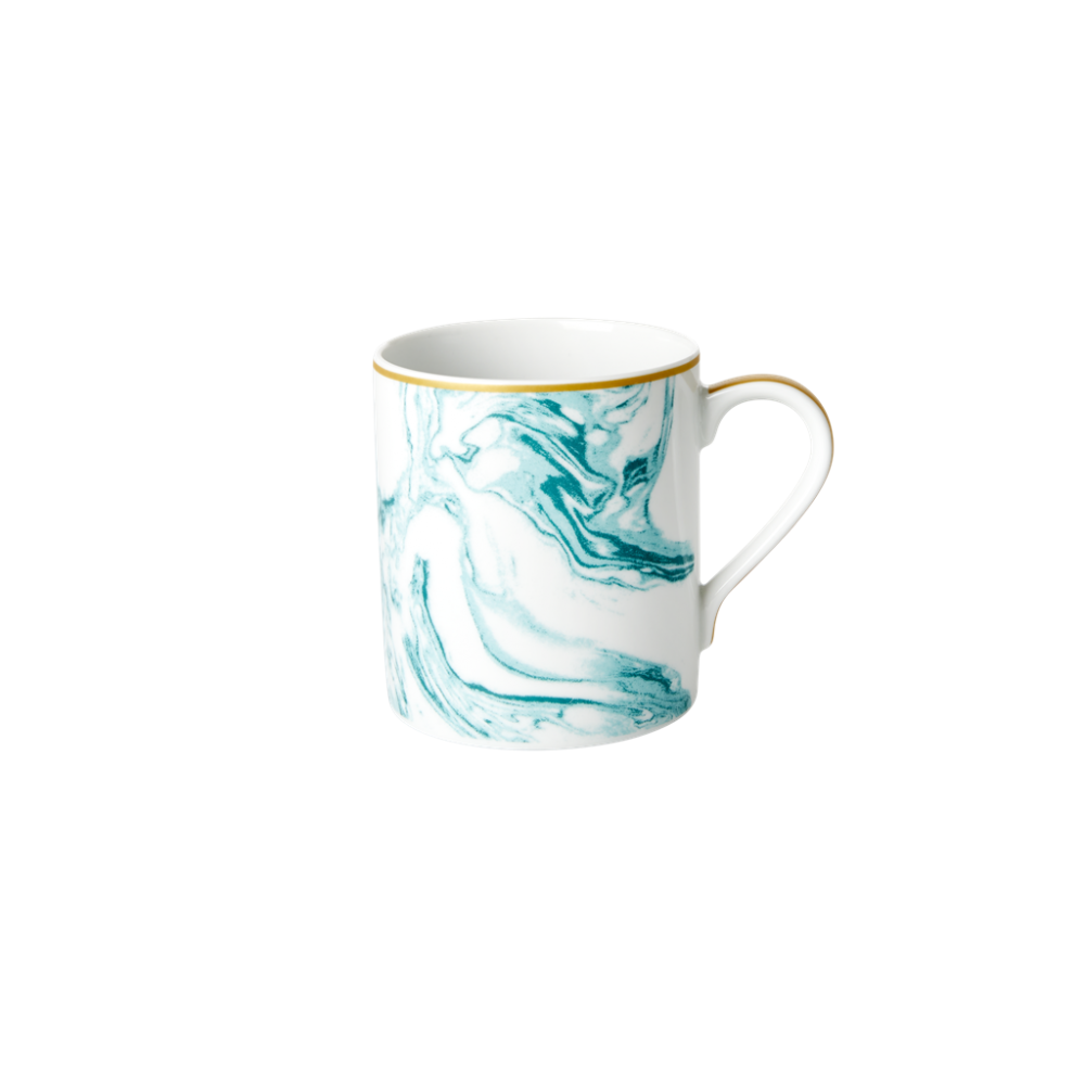 Porcelain Mug With Marble Print in Jade By Rice DK