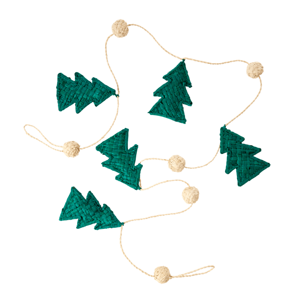 Raffia Christmas Tree Garland By Rice DK