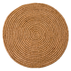 Raffia Large Round Placemat Coaster In Tea By Rice DK