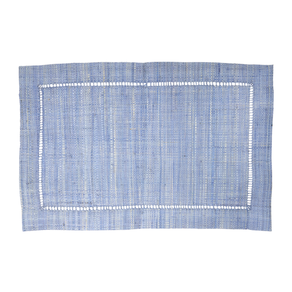 Raffia Placemats in Blue by Rice DK