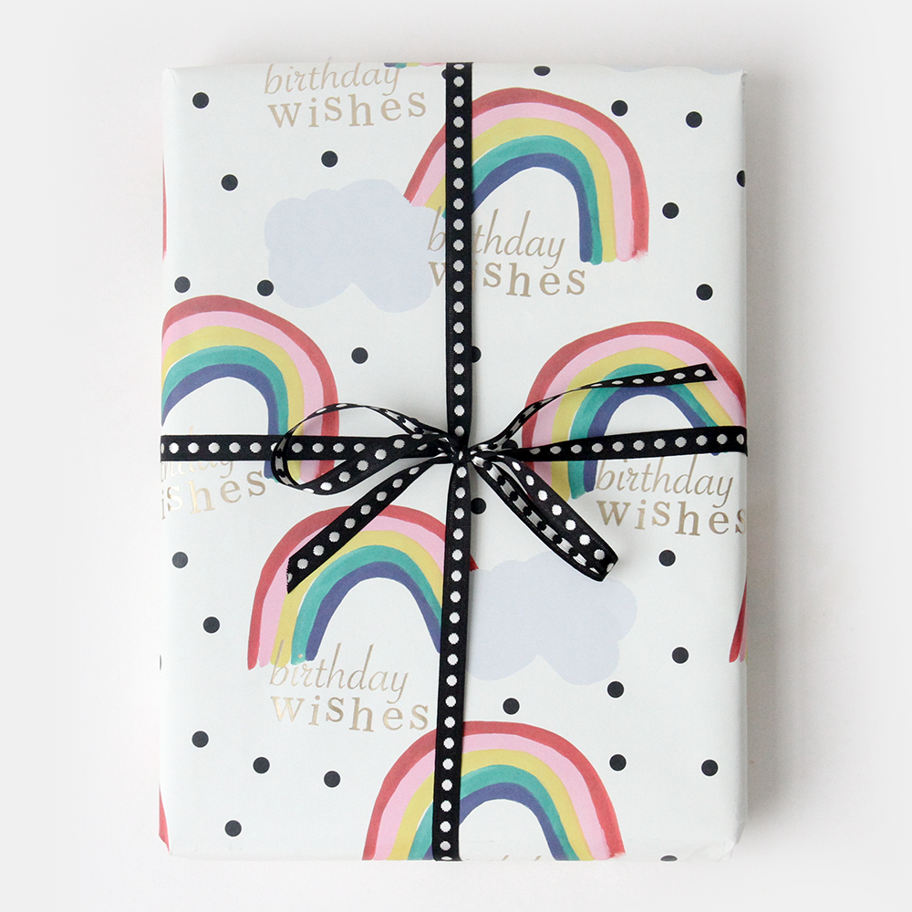 Rainbow Print Wrapping Paper By Caroline Gardner