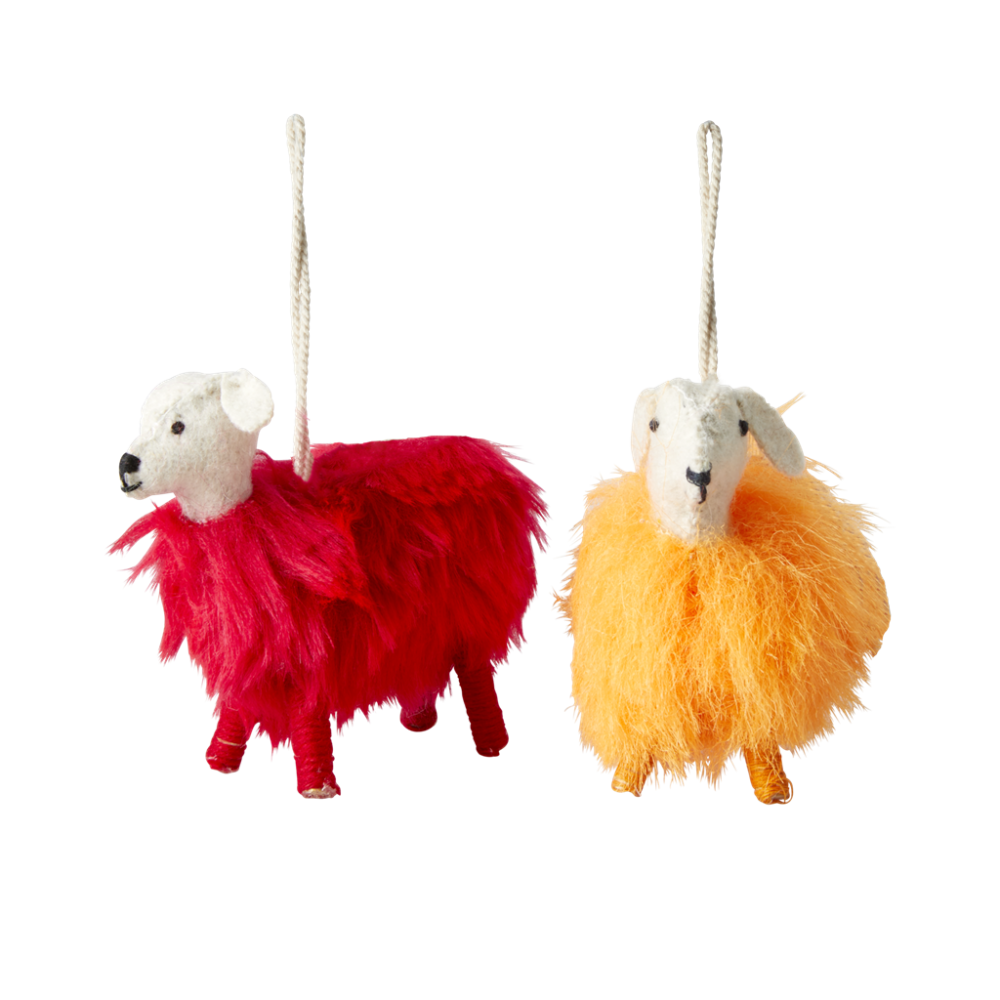 Colourful Sheep Christmas Ornaments By Rice DK