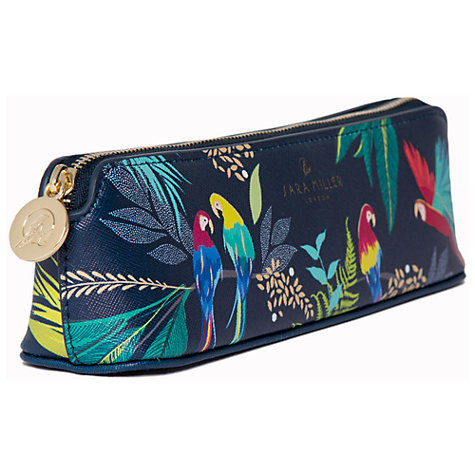 Tropical Parrot  Print Pencil Case By Sara Miller