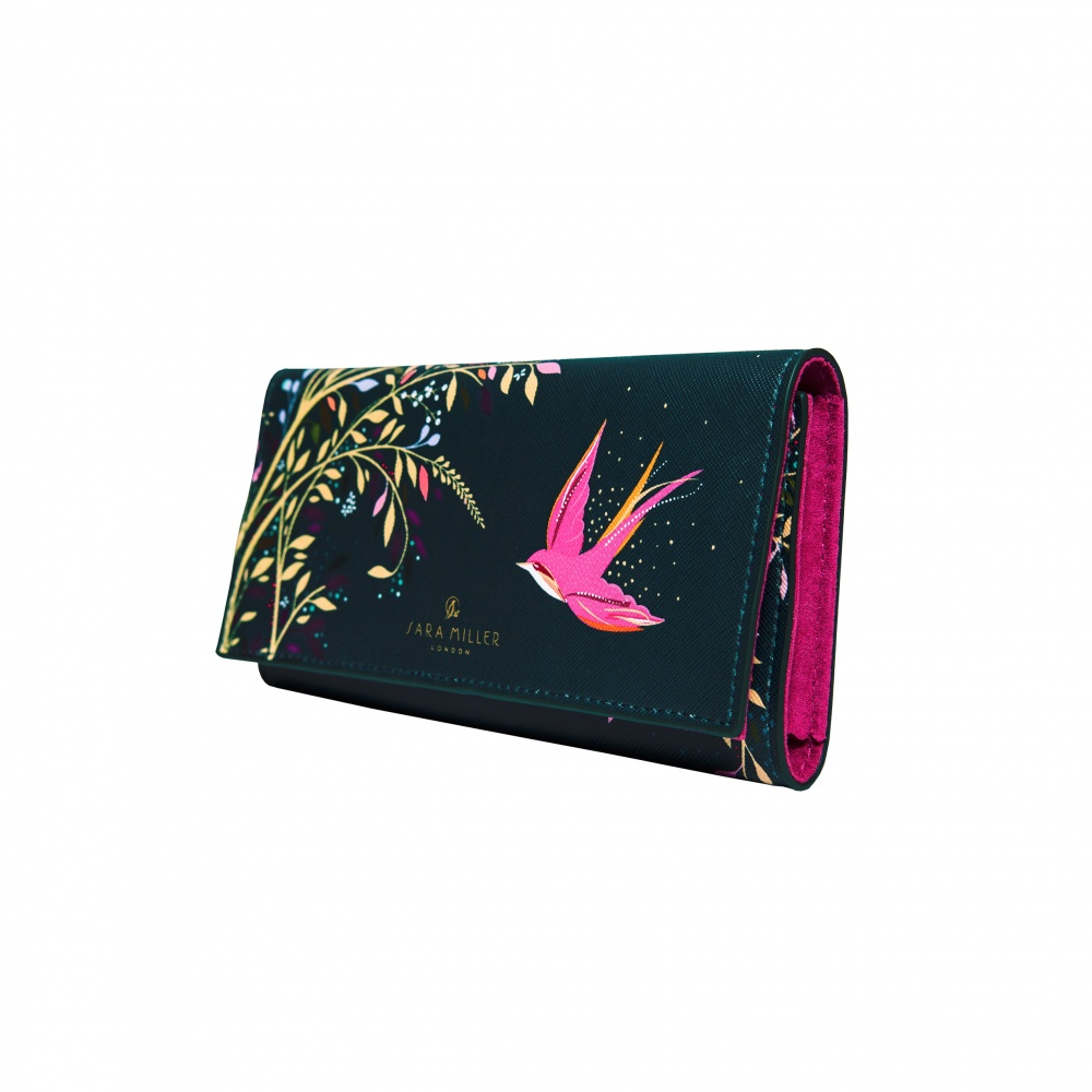 Swallow Print Jewellery Pouch from Sara Miller London