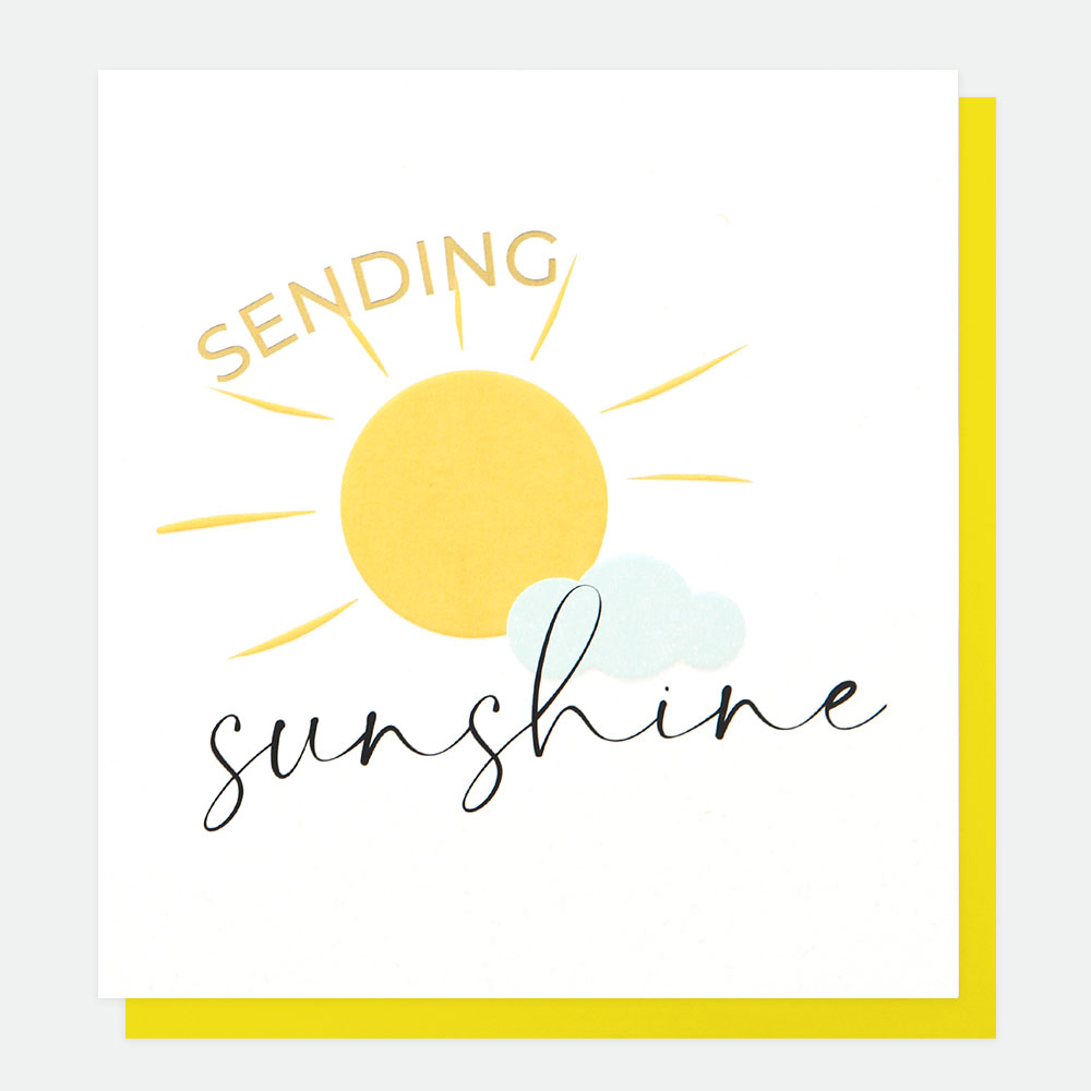 Sending Sunshine Greeting Card by Caroline Gardner