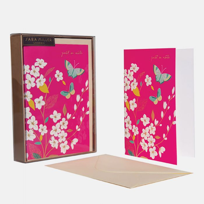 Butterfly Set of 10 Notecards By Sara Miller London