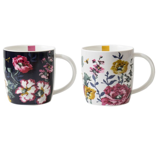 Set of 2 Mugs By Joules in Floral Prints