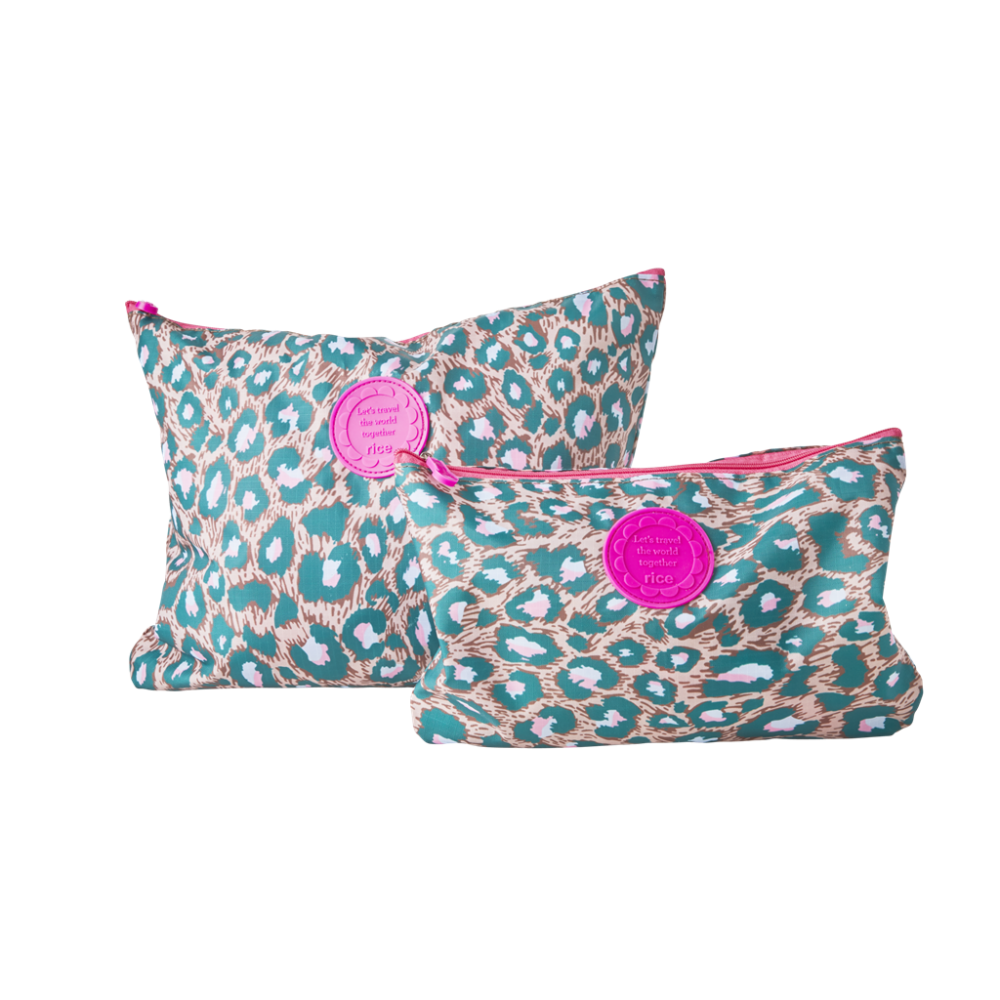 Set of 2 Holiday Packing Pouches Leopard Print By Rice DK
