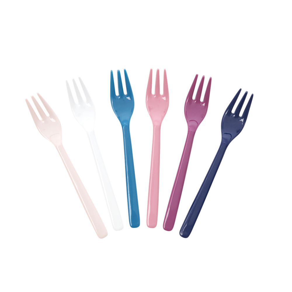 Set of 6 Melamine Forks In Simply Yes Colours Rice DK
