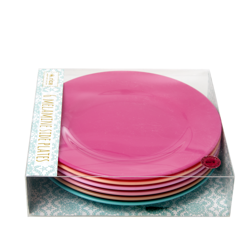 Set of 6 Melamine Side Plates LBC Collection By Rice DK