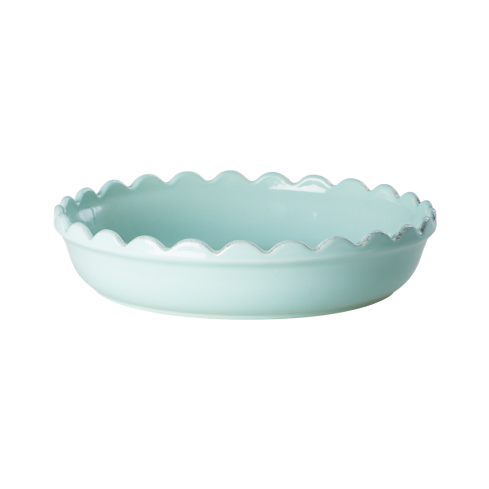 Small Stoneware Pie Dish in Mint by Rice DK