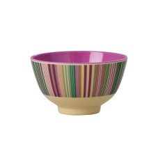 Colourful Stripe Print Small Melamine Bowl Rice DK