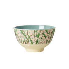 Snowdrop Print Small Melamine Bowl By Rice DK