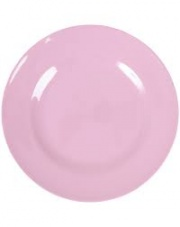 Pink Melamine Side Plate or Kids Plate Rice DK