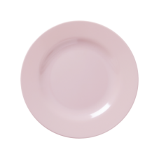 Soft Pink Melamine Kids or Side Plate by Rice DK