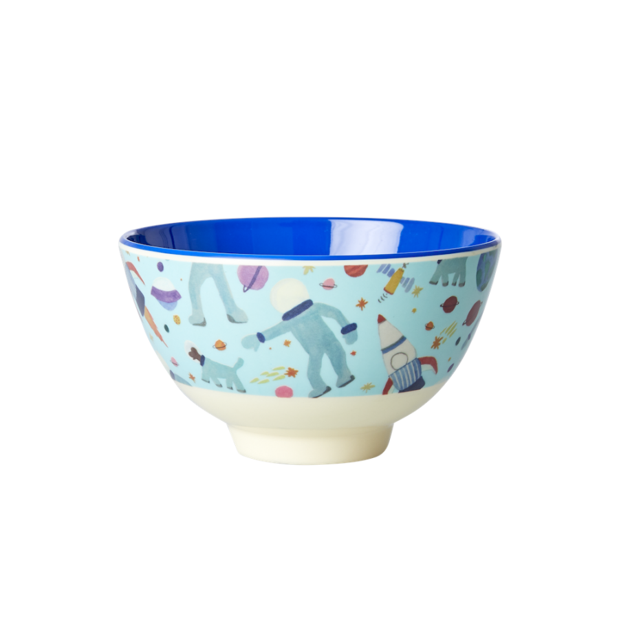 Space Print Small Melamine Bowl Rice DK