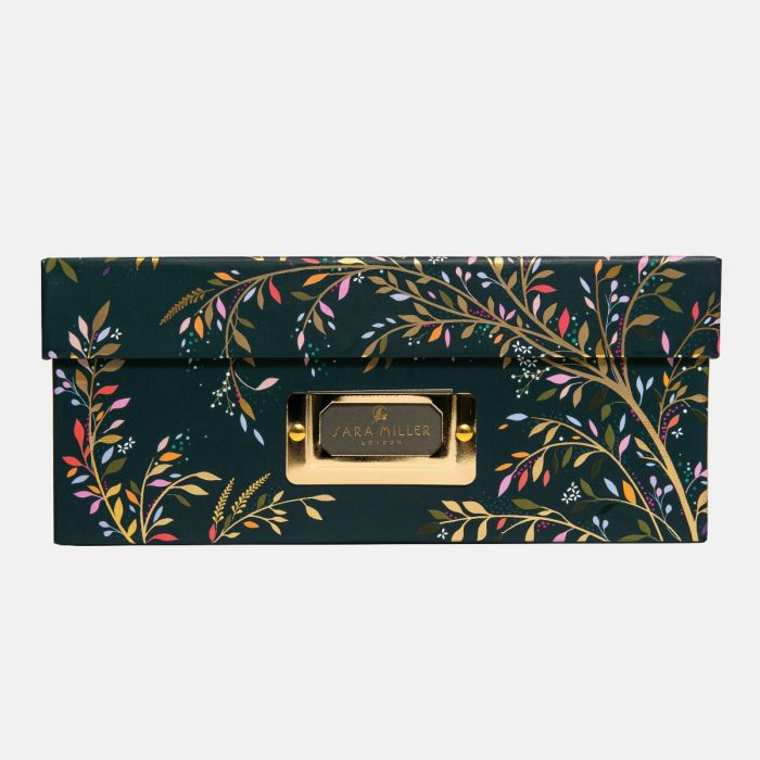 Sara Miller A4 Storage Box Chelsea Collection, Swallow Print