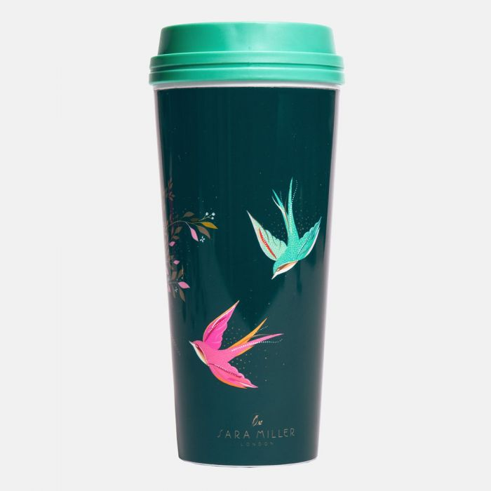 Swallow Print Thermal Travel Cup By Sara Miller London